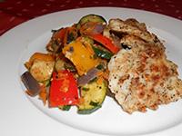 Citromborssal sült tengeri halszeletek,wokban sült zöldségek
