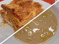 Fahéjas almaleves és bolognai lasagne