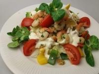 Csekonics saláta csirkemellel,rákkal,tárkonyos light tartár