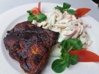 BBQ csirkecomb filé maj.,angolzelleres fitness tésztasali