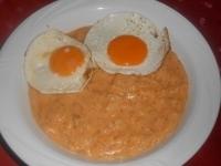 Kapros tökfőzelék 2 db tükör tojással
