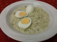Karalábéfőzelék 2 db főtt tojással