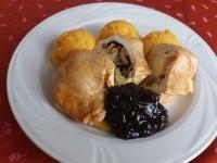 Camemberttel,dióval sült csirkemell édesburgonya-pürével,áf