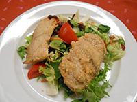 Vaslapon sült citromos fokh.af.harcsa kapros jogh.salátával