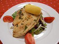 Korian. kókusztejben pácolt sügérfilé joghurtos salátával