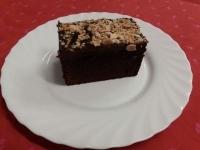 Brownie mandulával és mogyoróval