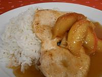 Almás mézes csirkemell jázmin rizzsel