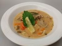 Vargánya gombás kacsaragu leves