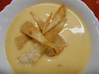 Cheddar sajtkrémleves