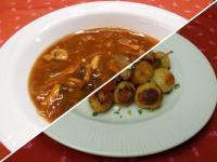 Szecsuáni savanyú-erős leves és pulyka brassói apr