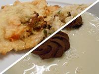 Tejsz.kókuszlev. és mozz.,bac.sütőtökkel sült csirke barnar.
