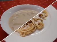 Vilmoskörte leves+Fűszeres rakott burg.