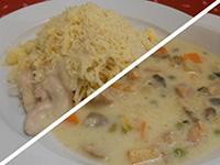 Rizlinges csirkeragu leves és carbonara spagetti