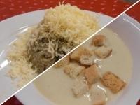 Karfiol krémleves+Zöldséges csirkemáj r.