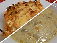 Tejfölös gombaleves és csirkehúsos barnarizses rakott z.bab