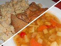 Erdélyi paraszt csorbaleves+bakonyi sertésborda házi galuska