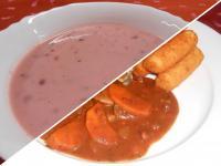 Joghurtos ribizlileves és vörösboros burgundi csirke,krokett