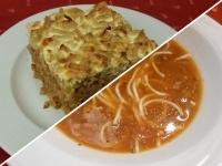 Olasz minestroneleves és húsos rakott zöldbab