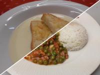 Fokhagymakrémlev.sajtos rúddal+Zöldborsós pulykatokány,rizs