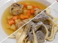 Húsleves májgombóccal+Mákos tészta