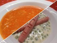 Savanyú tojásleves és Szerb húsos rakott burgonya