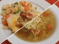Libaleves tésztával,zúzával és par.padlizsánnal sült pulyka