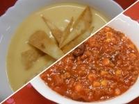 Cheddar sajtkrémleves és mexikói chilis bab