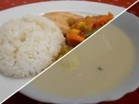Mentás citromlev. túróg. és r.csirke mexikói z.raguval+rizs