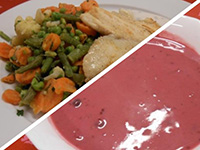 Narancsos f.ribizli lev. és grill sügér citr.fű m.,pár.zölds