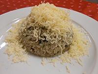 Zöldséges csirkemáj rizottó