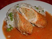 Göngyölt sertés szelet rizi-bizivel