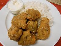 Szotyis bundában sült brokkoli jázmin rizzsel, tartármártás