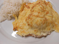 Pulykamell szelet dubarry módra rizzsel