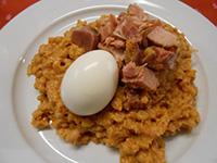 Sólet füstölt csülökkel és főtt tojással