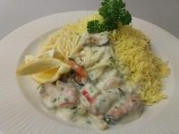 Tejszínes tengergyümölcseis spagetti